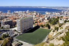 Aerial view of Marseille Stock Photos