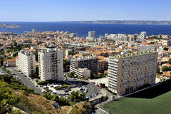 Aerial view of Marseille Stock Images