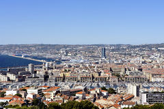 Aerial view of Marseille Royalty Free Stock Photography