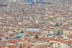 Aerial view of Marseilles Royalty Free Stock Image