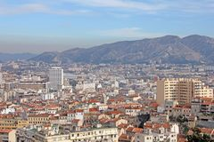 Aerial view of Marseilles Royalty Free Stock Photography