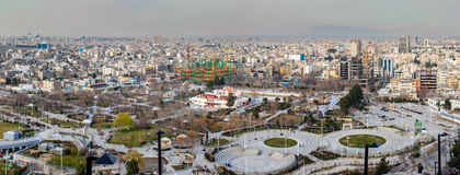 Aerial view of Mashhad stock images