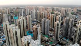 Massive building sites construction in China