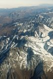 Aerial view massive snow mountain range in Georgia.  royalty free stock photos