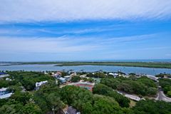 Aerial view of the Matanzas River in St. Augustine, Florida USA. This is an image of an aerial view of the Matanzas River in St. Augustine, Florida, USA.  There Stock Images