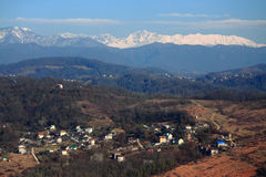 Aerial view of Matsesta, the big Sochi Stock Photography