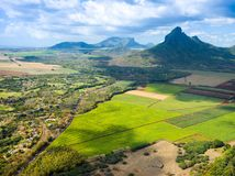 Aerial view of Mauritius island Stock Images
