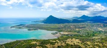 Aerial view of Mauritius island Stock Photos