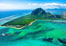Aerial view of Mauritius island Royalty Free Stock Photography