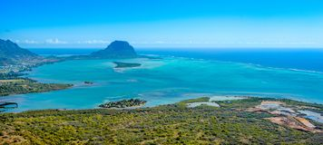 Aerial view of Mauritius island Stock Image