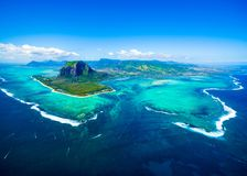 Aerial view of Mauritius island royalty free stock images