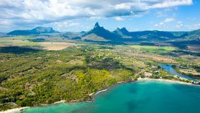 Aerial view of Mauritius island Stock Photography