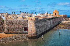 Aerial view of Mazagan, El Jadida, Morocco. It is a Portuguese Fortified Port City registered as a UNESCO World Heritage Site Stock Photography