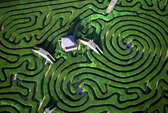 Aerial view of Maze. In Longleat House, England, U.K Stock Photography