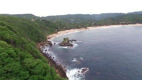 Aerial view of the Mazunte Beach in the Oaxacan Coast. Mazunte Oaxaca, Mexico. Take 1 stock footage