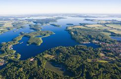 Aerial view of Mazury Stock Photography