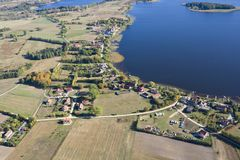 Aerial view of Mazury Royalty Free Stock Images