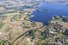 Aerial view of Mazury Stock Photo