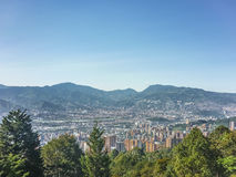 Aerial View of Medellin Colombia. Beautiful aerial view of city and mountains in Medellin, one of the most important cities of Colombia, in South America stock images