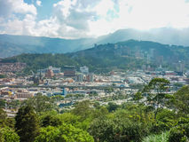 Aerial View of Medellin from Nutibara Hill Stock Photos