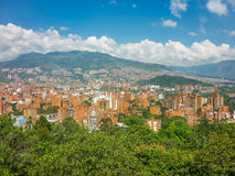 Aerial View of Medellin from Nutibara Hill Stock Images