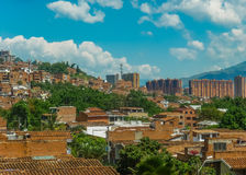 Aerial View of Medellin from Nutibara Hill Royalty Free Stock Photo