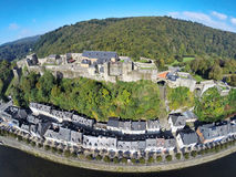 Aerial view of medieval Bouillon castle Royalty Free Stock Photography
