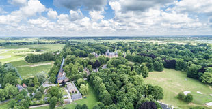 Aerial view of the medieval castle De Haar in Netherlands Royalty Free Stock Photos