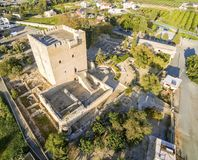 Aerial view of Medieval castle of Kolossi, Limassol, Cyprus Royalty Free Stock Photo