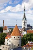 Aerial view of Tallinn. Aerial view of medieval center of Tallinn, capital of Estonia Royalty Free Stock Image
