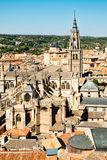 Aerial view of the medieval city of Toledo in Spain Royalty Free Stock Photos