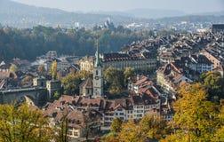 Aerial view of Bern, Switzerland royalty free stock photos