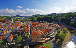 Aerial view of medieval town Stock Images