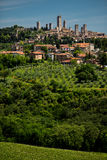 Aerial view of the medieval town of Montepulciano Stock Photography