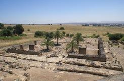 Aerial view of Medina Azahara city ruins in Cordoba, Andalusia, Spain. Stock Photography