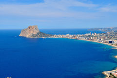Aerial view of mediterranean coast city Royalty Free Stock Photos