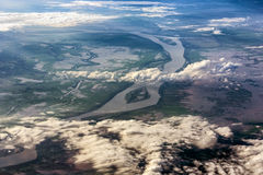 Aerial view of mekong river in Vietnam Stock Photography