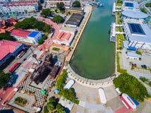 Aerial View of Melaka City. Historic Malacca City. Dataran Pahlawan Stock Images