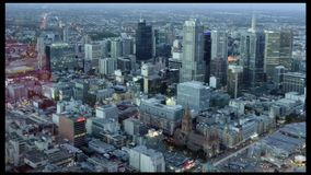 Aerial view of Melbourne Australia stock footage
