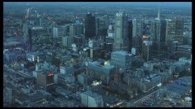 Aerial view of Melbourne Australia