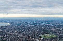 Aerial view of Melbourne, Australia Stock Photo