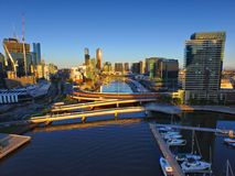 Aerial View Melbourne CBD Royalty Free Stock Image