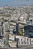 Aerial View of Melbourne City Stock Image
