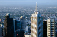 Aerial view of Melbourne Downtown Australia Stock Images