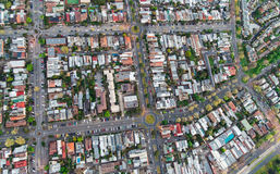 Aerial view of Melbourne suburbs. Aerial view of inner city suburbs in Melbourne, Australia Royalty Free Stock Images