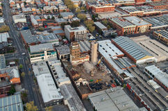 Aerial view of Melbourne suburbs stock photo