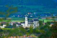 Aerial view of Melk City Royalty Free Stock Photography