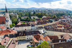 Aerial view of Melk City Royalty Free Stock Images