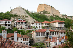 Aerial view of Melnik traditional architecture, Bulgaria Stock Images