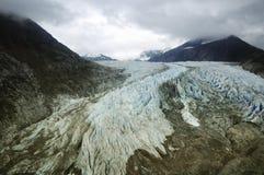Aerial view of Mendenhall Glacier, Juneau, Alaska Royalty Free Stock Photo